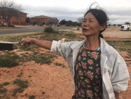 "Unja Baliko describes her neighborhood in San Angelo as being full of ""nice, spiritual people."" Baliko is a native of Korea who has been in America for 14 years, and she is known by her neighbors for her fastidious nature, picking up trash seven days a week to keep things neat."