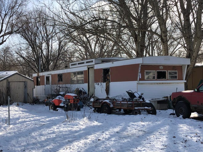 A mobile home fire killed one man at 6705 West 14th Place in Sioux Falls on Wednesday, Jan. 23, 2019.