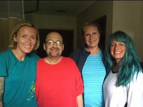 Pictured with Joey Moreira are Gathering Friends founders Whitney Creehan, Jennifer Cannon and Terra Salinas.