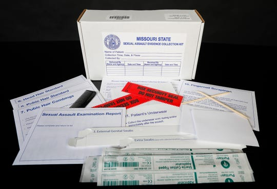 Missouri State Sexual Assault Evidence Collection Kit.