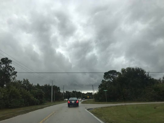 Storm clouds, wind and rain cut through Southwest Port St. Lucie as storms move across the Treasure Coast Jan. 24, 2019.