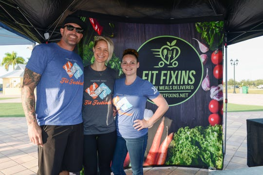 Fit Fixins' Clyde and Chelsia Tiger and Alex Voyles at the Treasure Coast Fit Festival at the Port St. Lucie Civic Center.