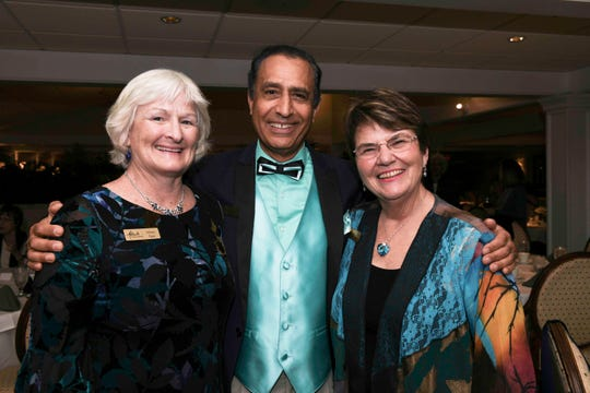 Hillary Egan, Kaven Haghkerdar and Dr. Marie Jureit-Beamish at the Jan. 14 Masterwork Dinner hosted by Stuart Friends of the Atlantic Classical Orchestra at Mariner Sands Country Club.
