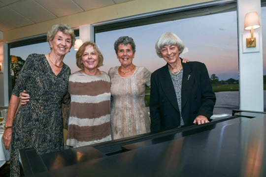 Evelyn Catacchio, left, Barbara Pinaire, Barbara Beal and Pat Pendergast at the Jan. 14 Masterwork Dinner hosted by Stuart Friends of the Atlantic Classical Orchestra at Mariner Sands Country Club.
