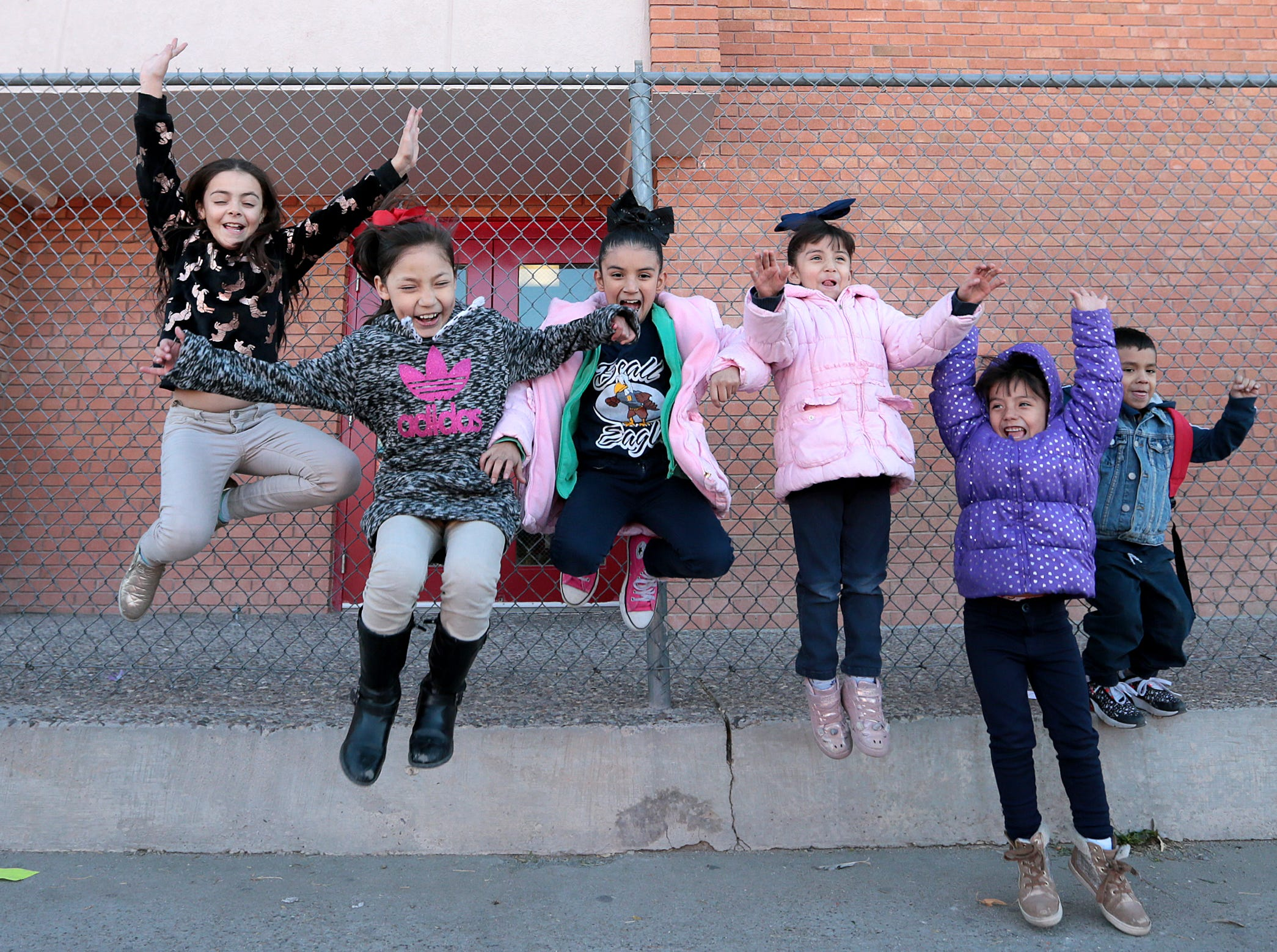 Beall Elementary School students play after school Wednesday. The EPISD Board voted Tuesday to close the school and three others.