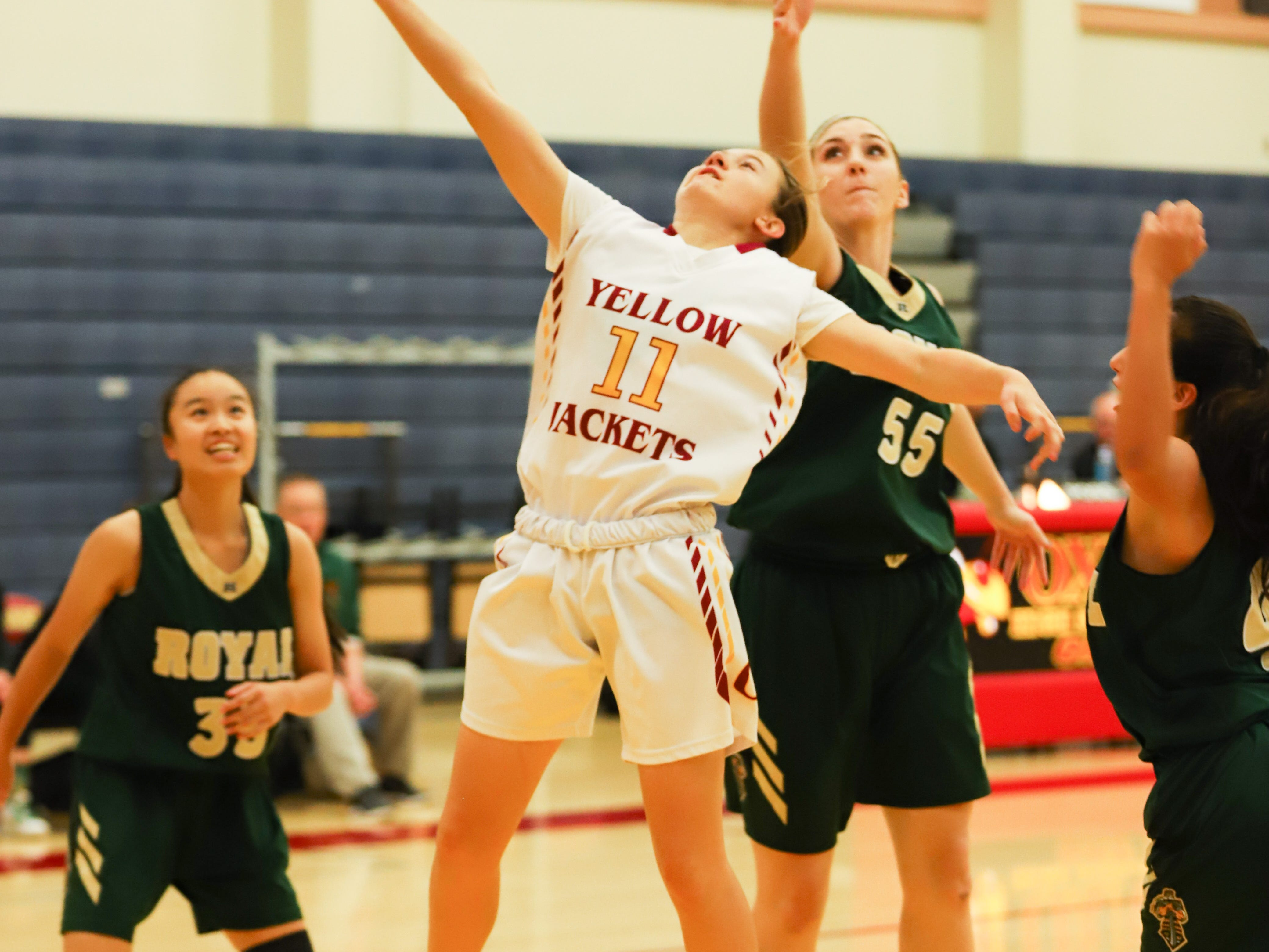 Freshman Ciara Gallagher is dropping in 7.1 points per game for a strong Oxnard High girls basketball team.
