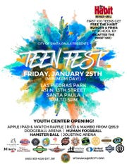 Santa Paula is hosting a Teen Fest to celebrate the city's new youth center opening.