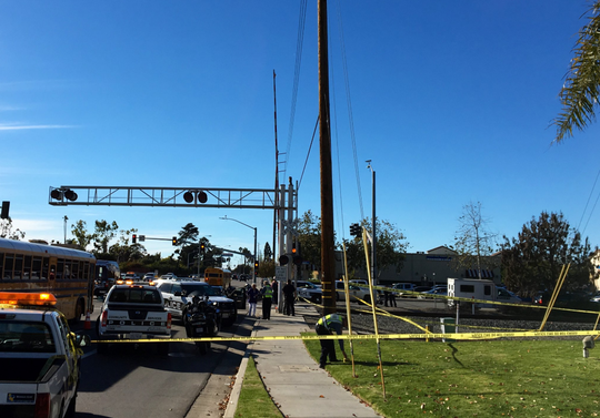 A person was hit and killed by a train Thursday near Gonzales Road and North Oxnard Boulevard.
