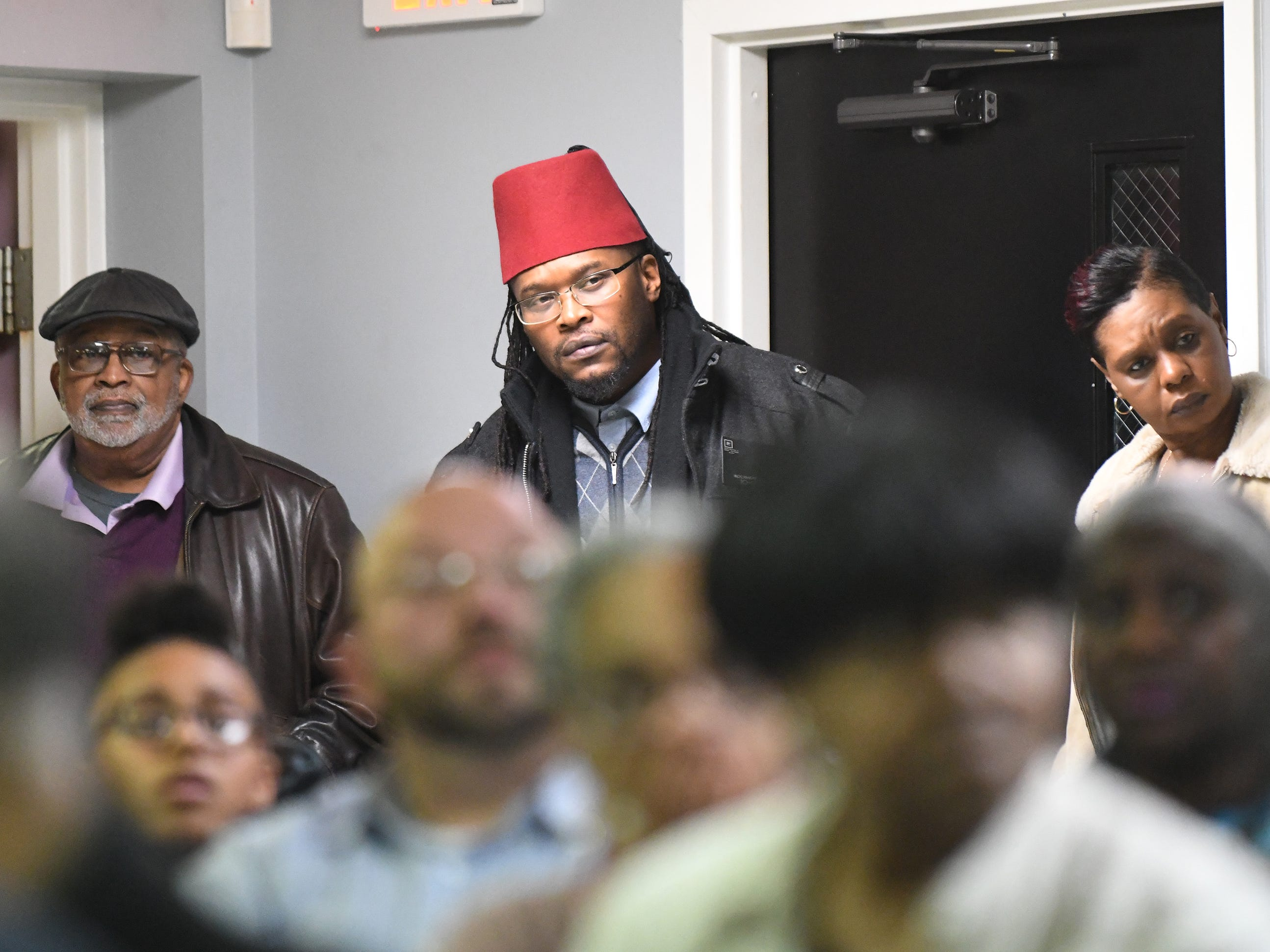"Audience members listen to N.J. Attorney General Gurbir S. Grewal speak about his ""Use of Force Project"" at Union Baptist Temple in Bridgeton on Wednesday, Jan. 23, 2019."