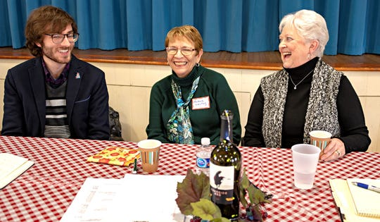 (From left) Christian Oberly, director of community relations, CASA of Cumberland, Gloucester and Salem Counties, shares a laugh with Barbara Westog, member, Millville Woman's Club, and Pat Moore, club president. Oberly was the featured speaker at the club's January meeting.