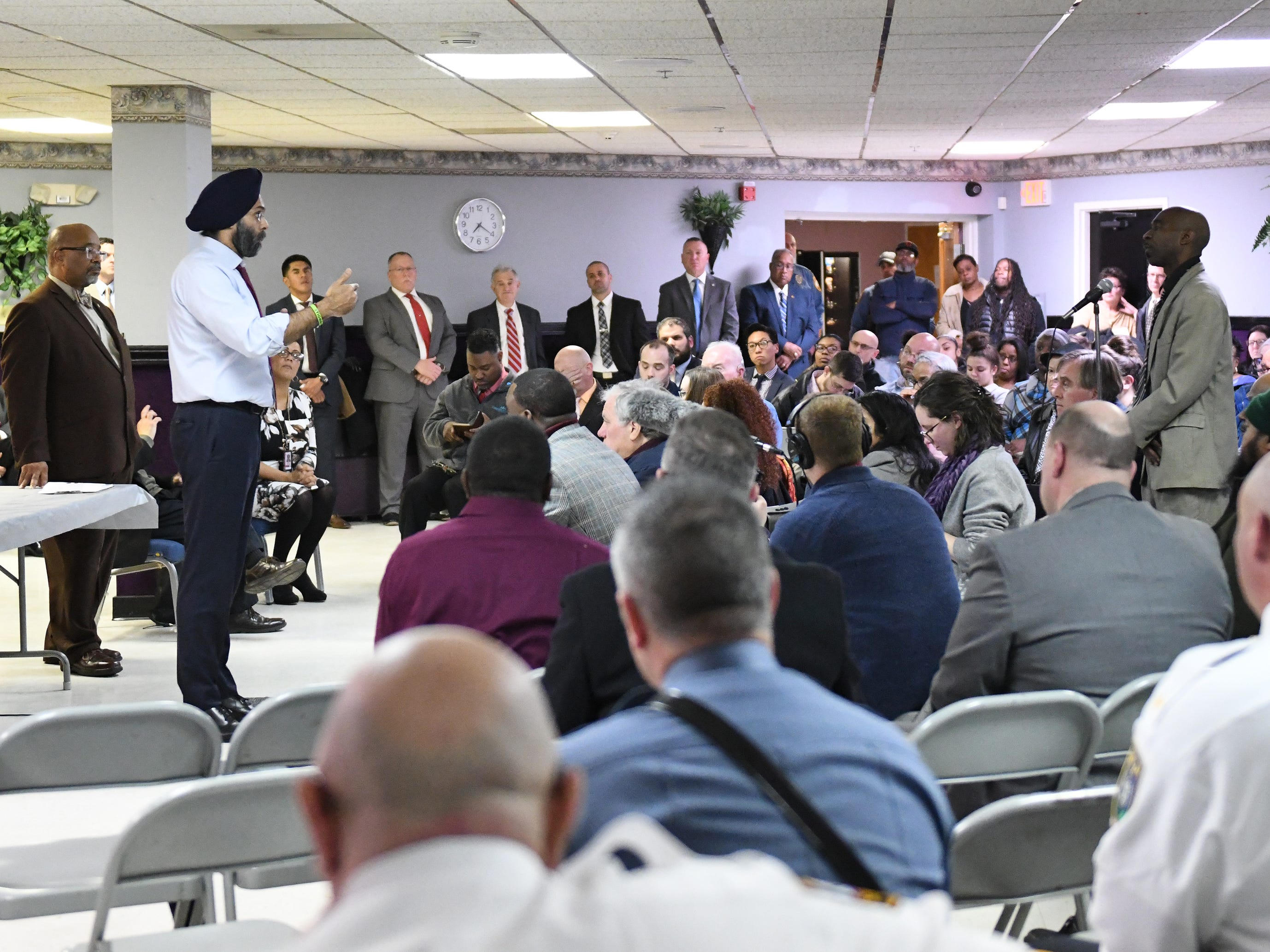 "N.J. Attorney General Gurbir S. Grewal and Cumberland County Prosecutor Jennifer Webb-McRae hosted a community ""listening session"" to discuss the AG's ""Use of Force Project"" at Union Baptist Temple in Bridgeton on Wednesday, Jan. 23, 2019."