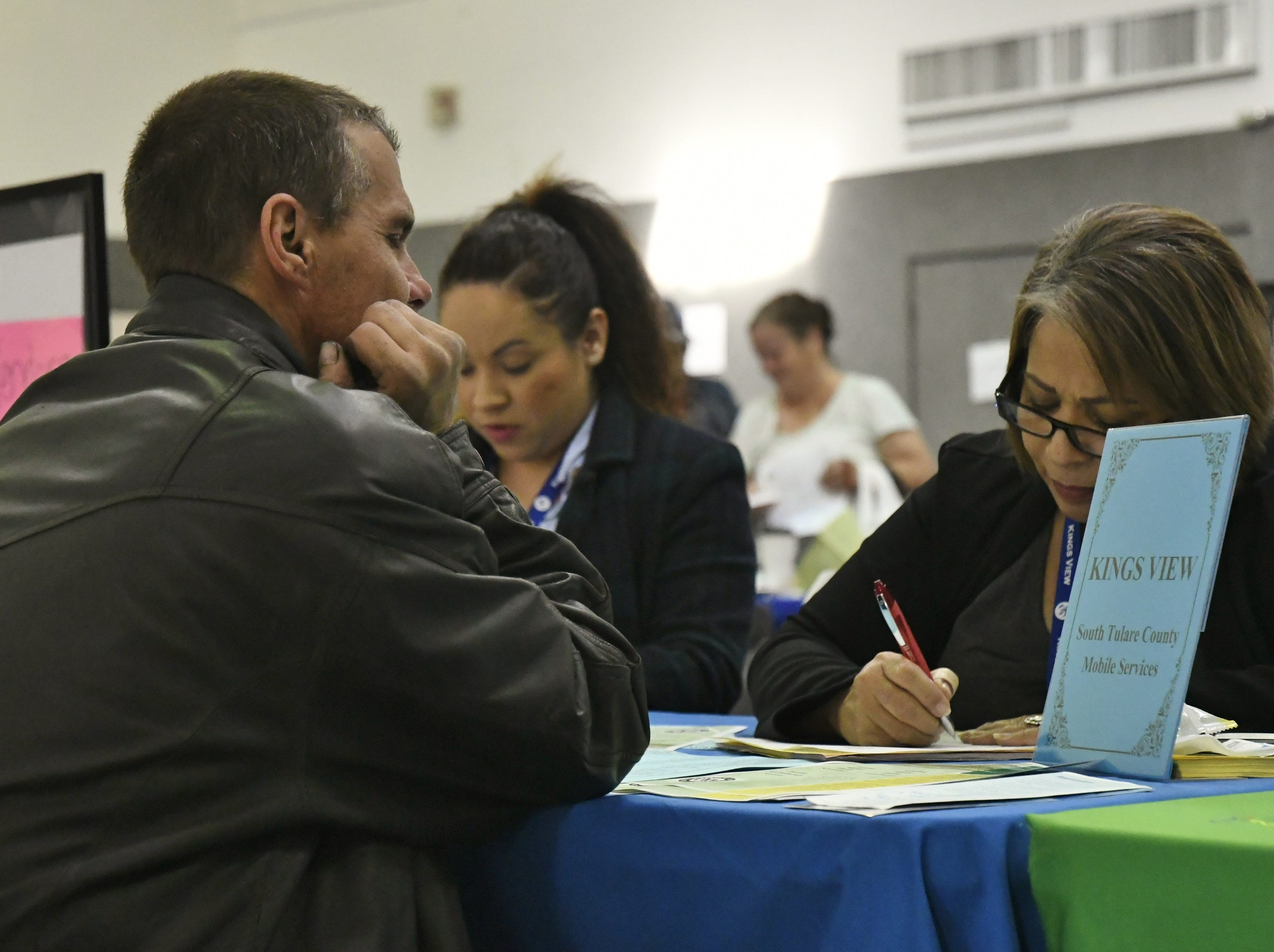 Roughly 35 agencies provided direct services to the homeless in Tulare during Thursday's Project Homeless Connect.
