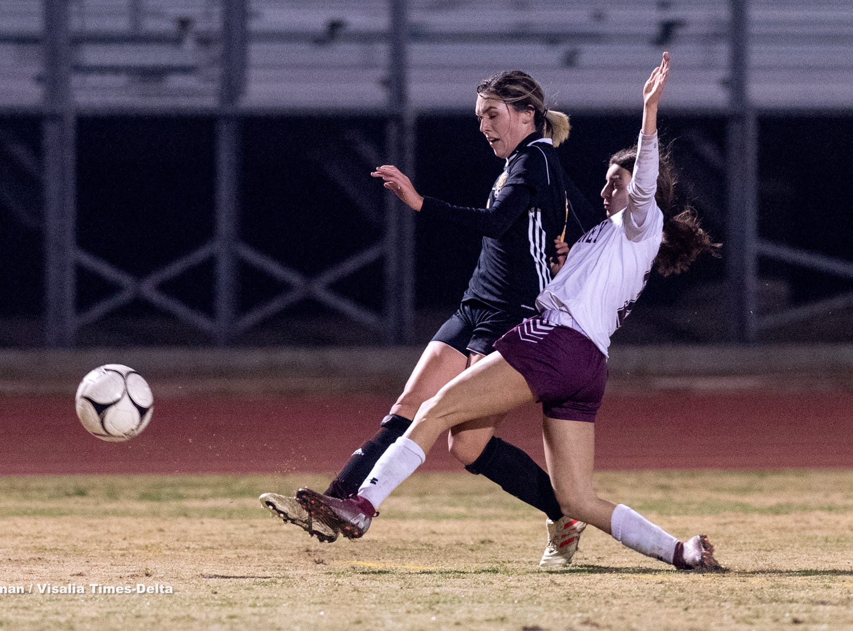 Golden West hosts Mt. Whitney in a girls soccer game on Wednesday, January 23, 2019.