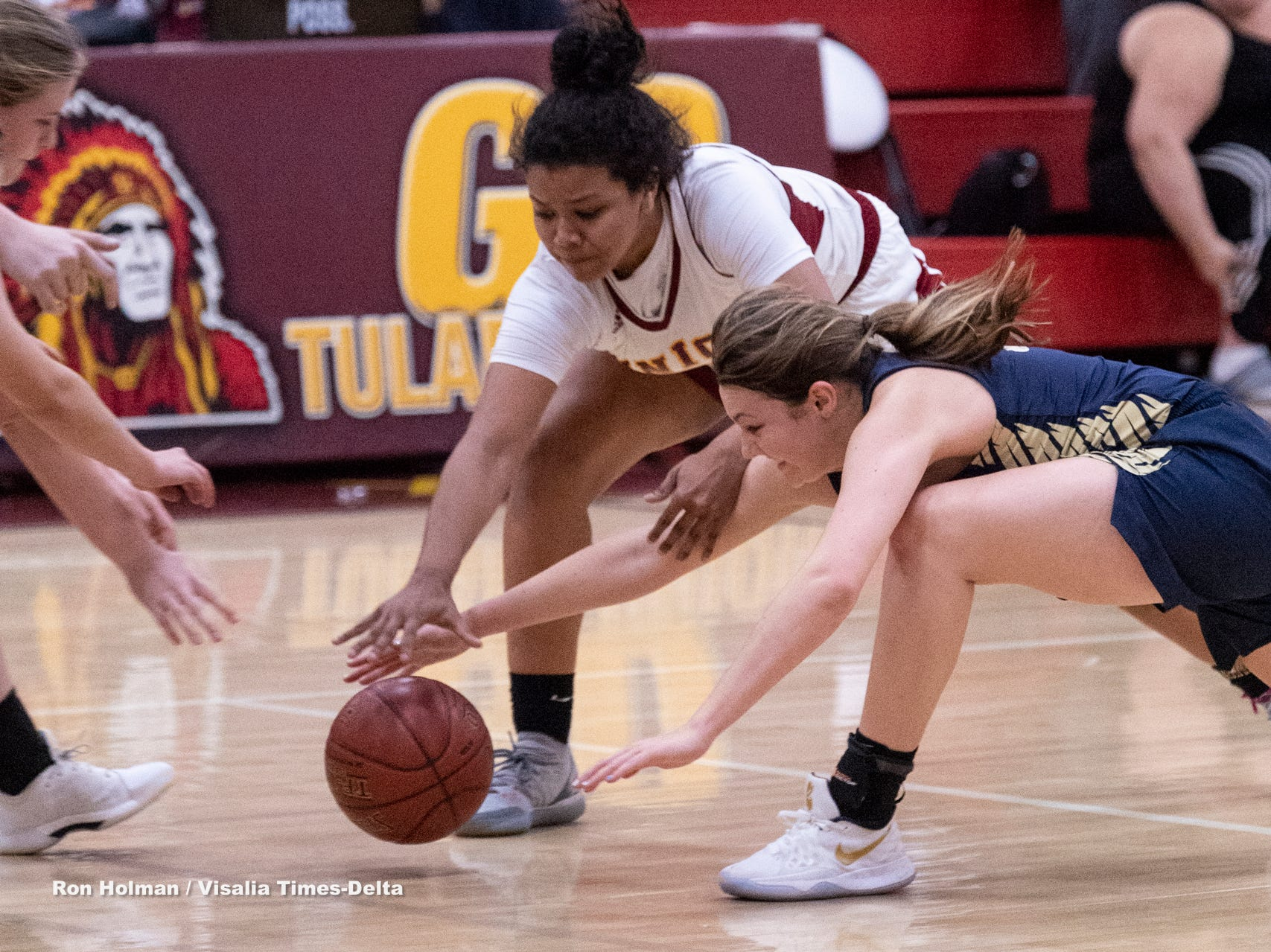 Tulare Union hosts Monache in a girls basketball game on Tuesday, January 22, 2019.