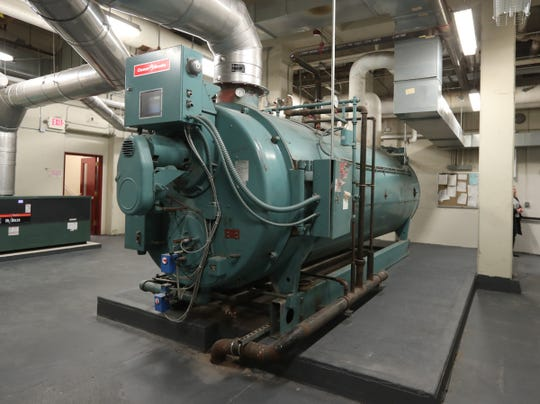 One of three boilers at Mamaroneck High School on Thursday, Jan. 24, 2019.