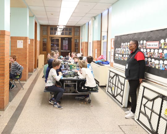 Students in the cafeteria at Chatsworth Elementary School in Larchmont on Thursday, January 24, 2019.