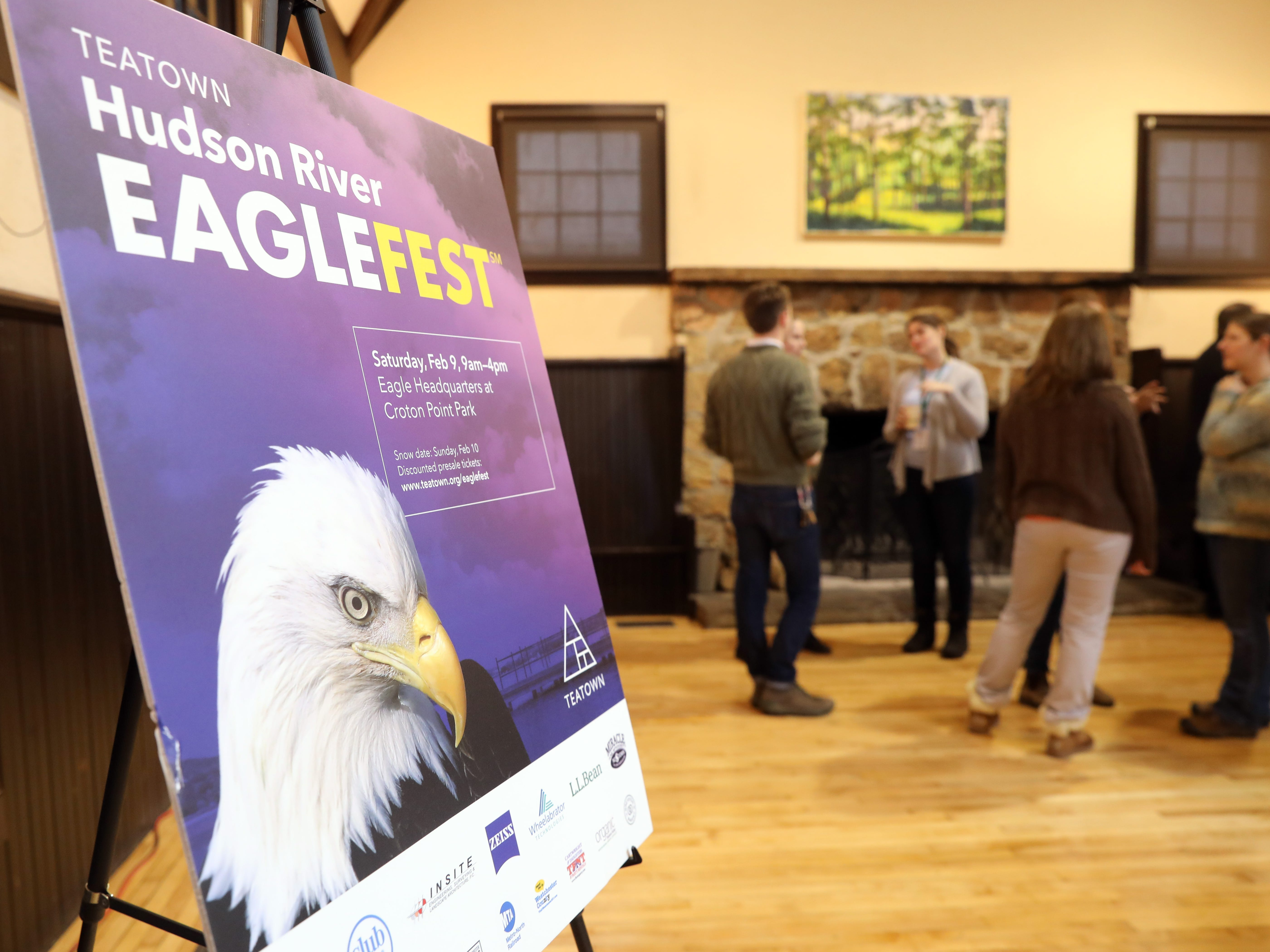 Teatown announces plans for its 15th annual Teatown Hudson River EagleFest at Teatown Lake Reservation in Ossining Jan. 24, 2019. The event will take place on Saturday, February 9 at Croton Point Park in Croton-on-Hudson to celebrate the return of the bald eagle to the Hudson River Valley.