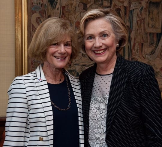 Betty Cotton and Hillary Clinton