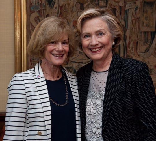 Betty Cotton and Hillary Clinton