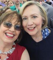 Carol Evans and Hillary Clinton