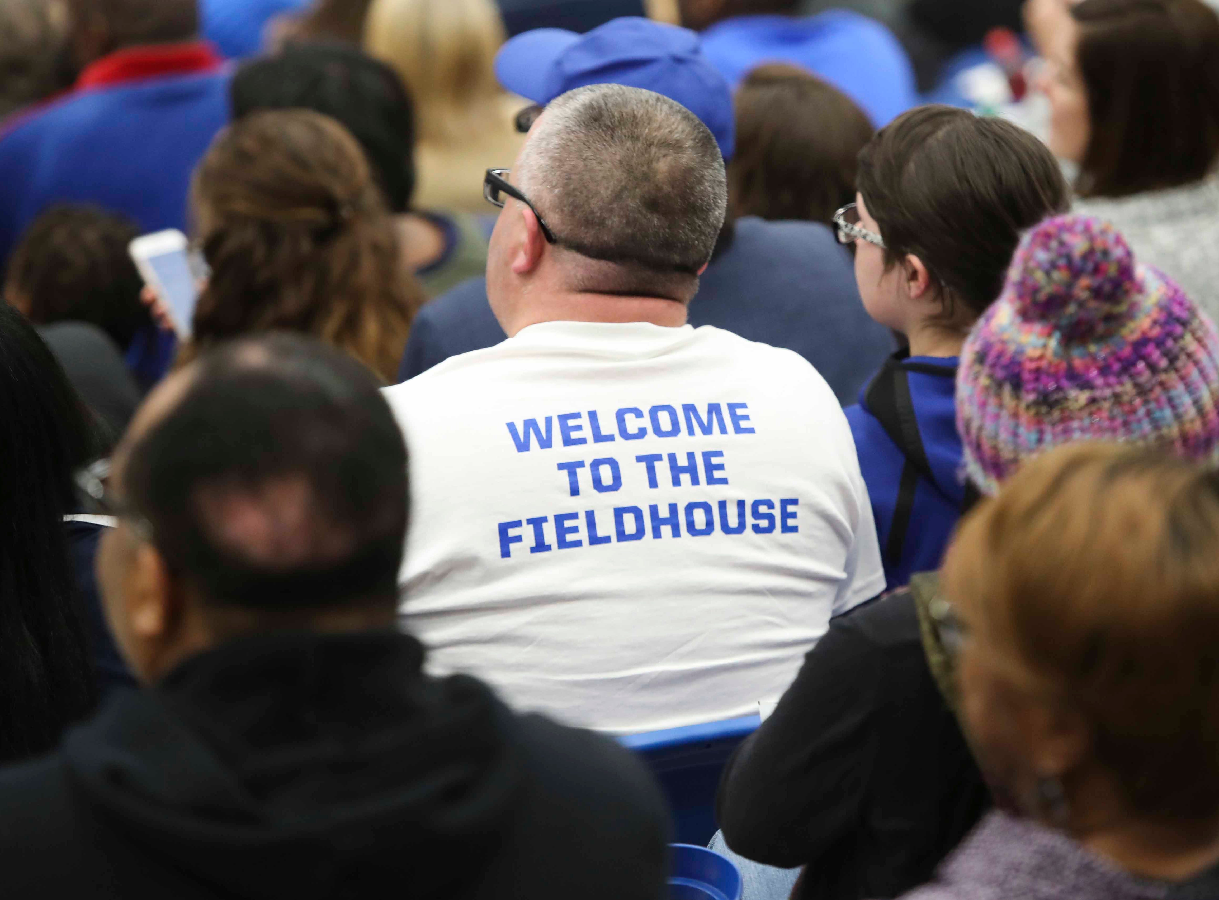 Fans take in the second half as the Delaware Blue Coats of the NBA G-League open the 76ers Field House in Wilmington Wednesday.