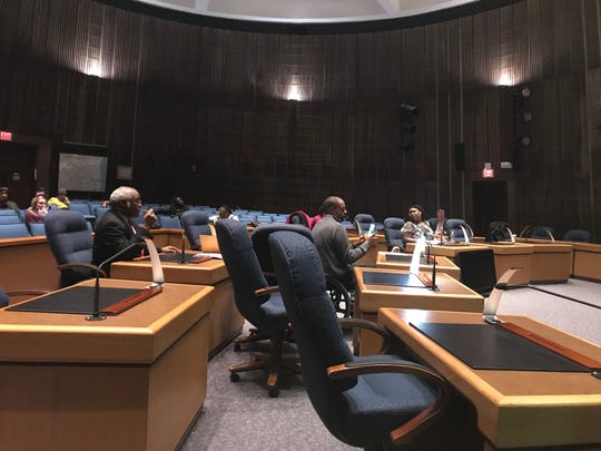 Half of City Council holds their own, unofficial meeting in the council chambers Thursday.