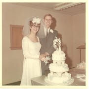 Mr. and Mrs. Darrell R. Johnson were married Jan. 24, 1969, at Park Place Christian Church.