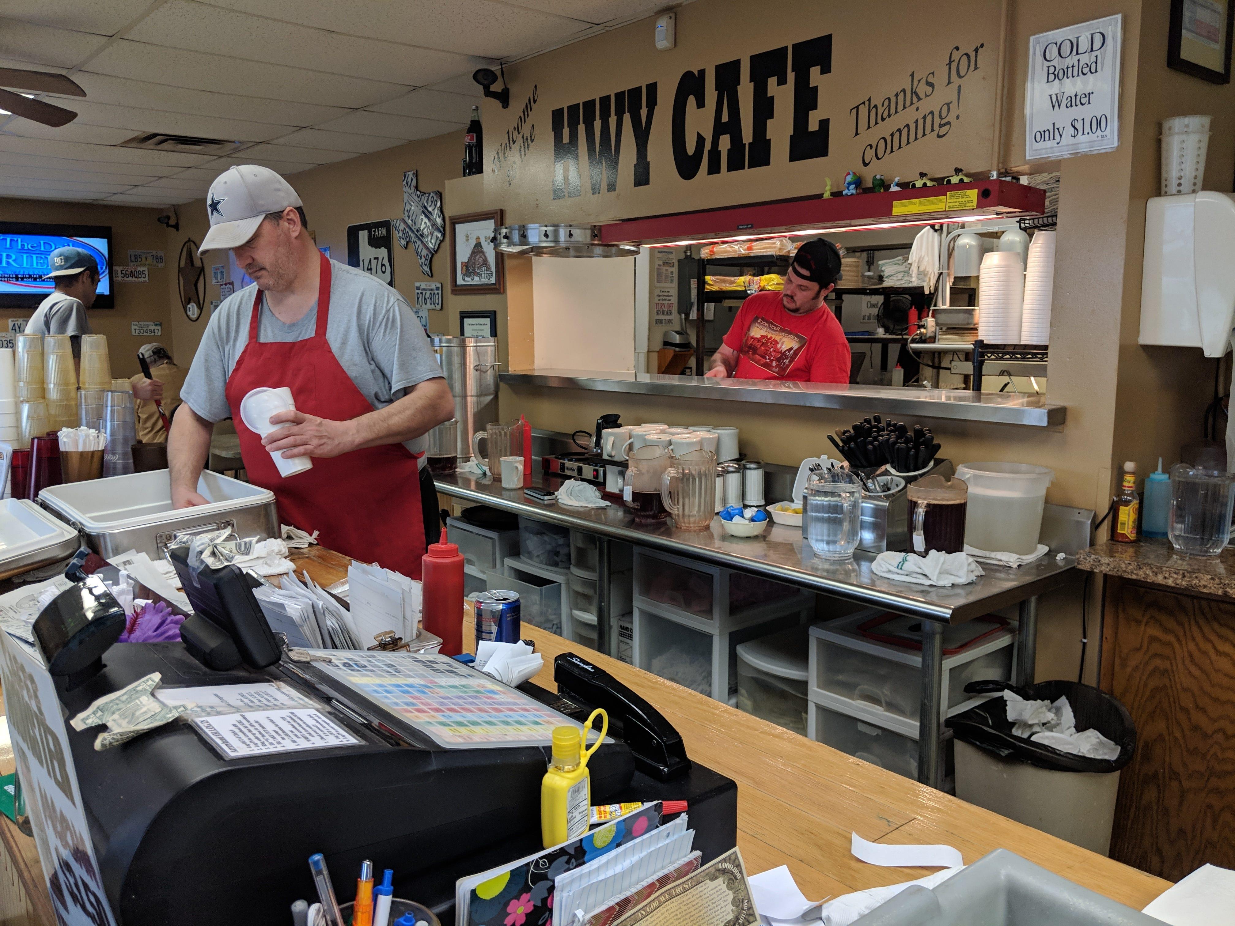 Inside Hwy Cafe.