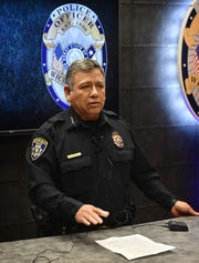 Wichita Falls Police Chief Manuel Borrego addresses the media Thursday morning regarding the current WFPD investigation into the death of Wilder McDaniel.