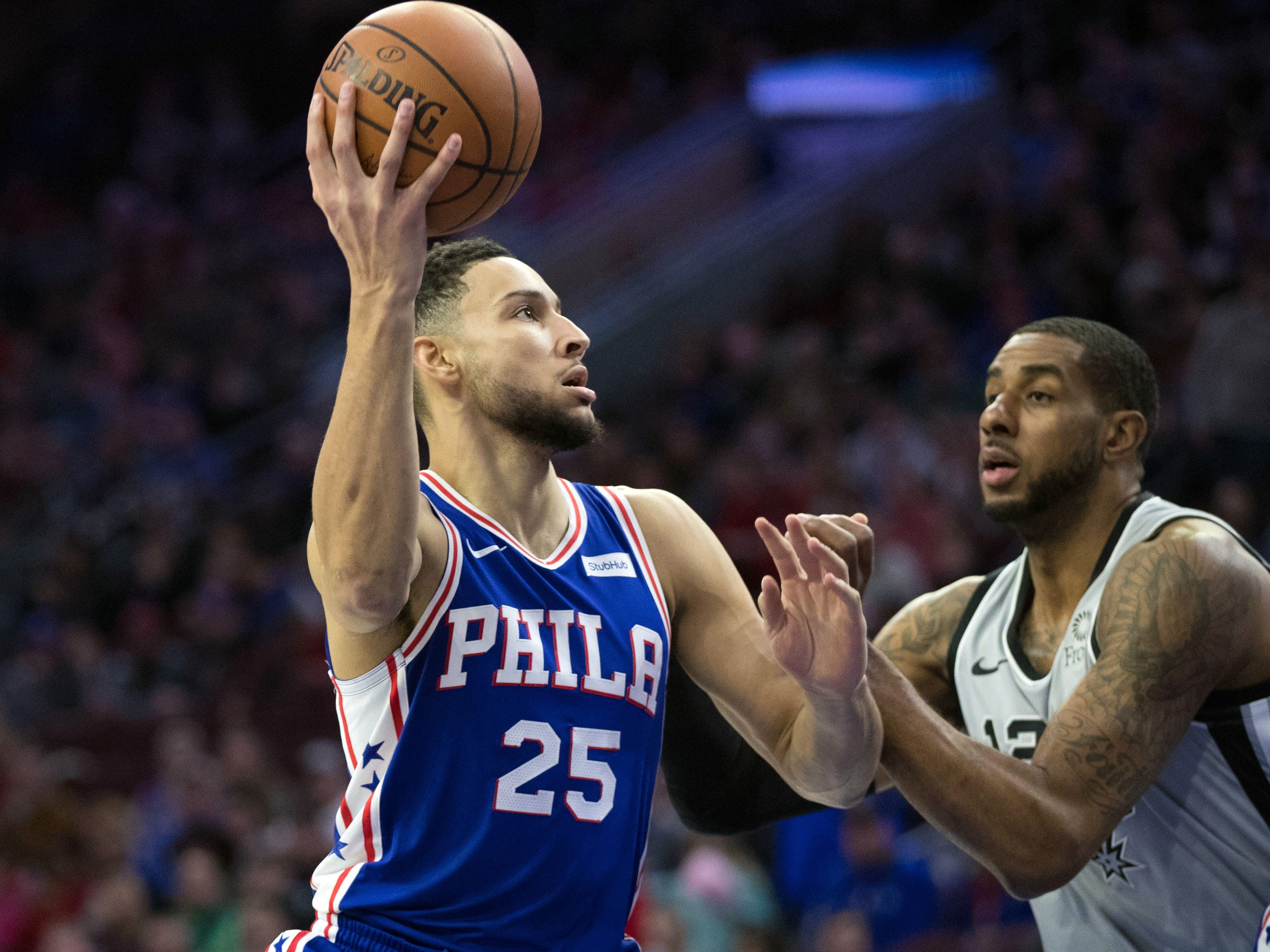 59. Ben Simmons, 76ers (Jan. 23): 21 points, 15 assists, 10 rebounds in 122-120 win over Spurs (eighth of season).