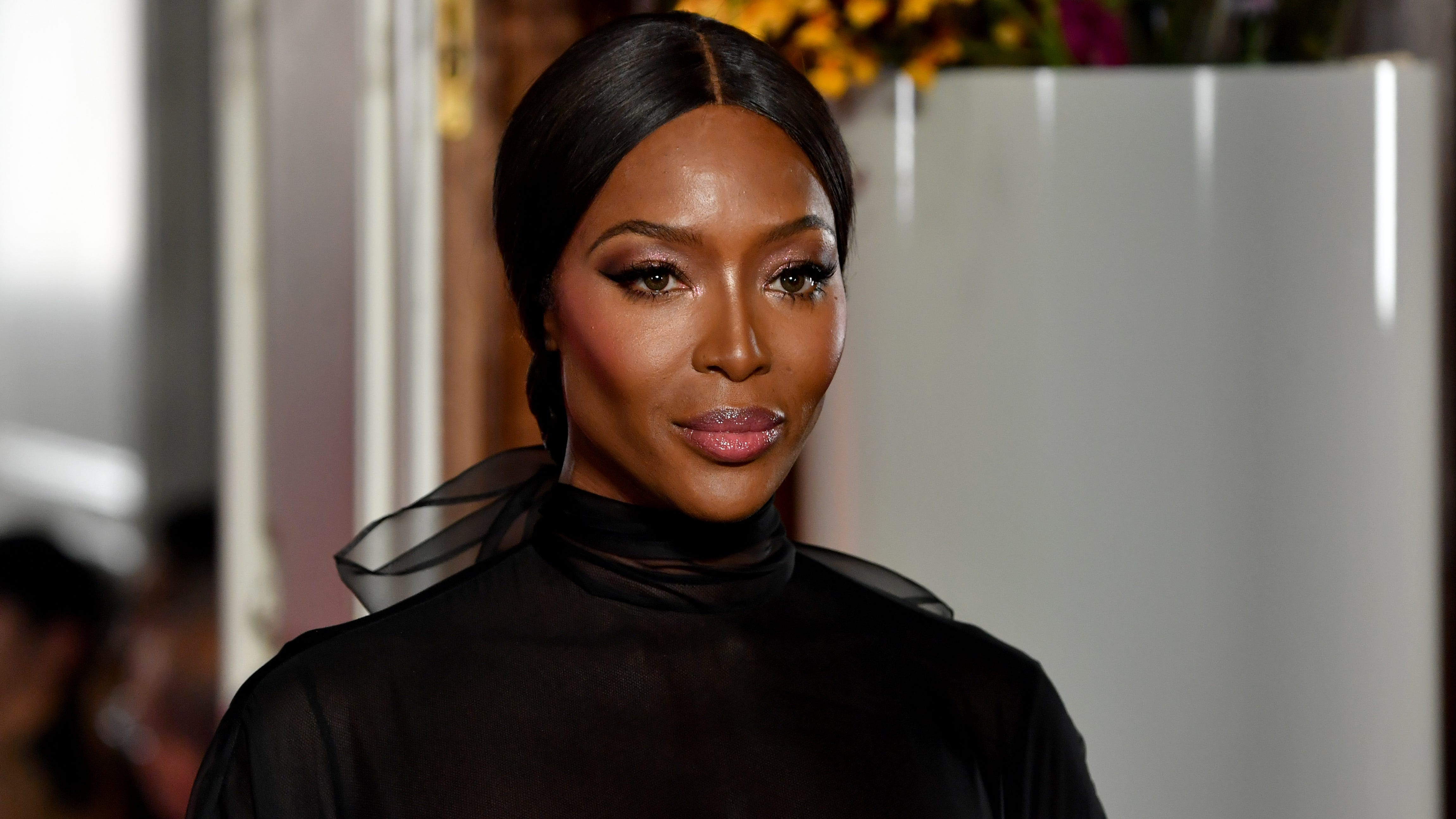 Naomi Campbell looked stunning on Valentino's runway Wednesday.