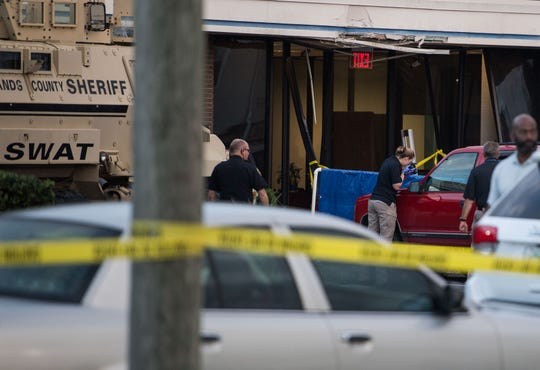 Five people were killed Wednesday, Jan. 23, 2019, at a SunTrust Bank branch in Sebring, Fla., on U.S. 27 after a man, identified as Zephen Xaver, entered the building and began shooting.