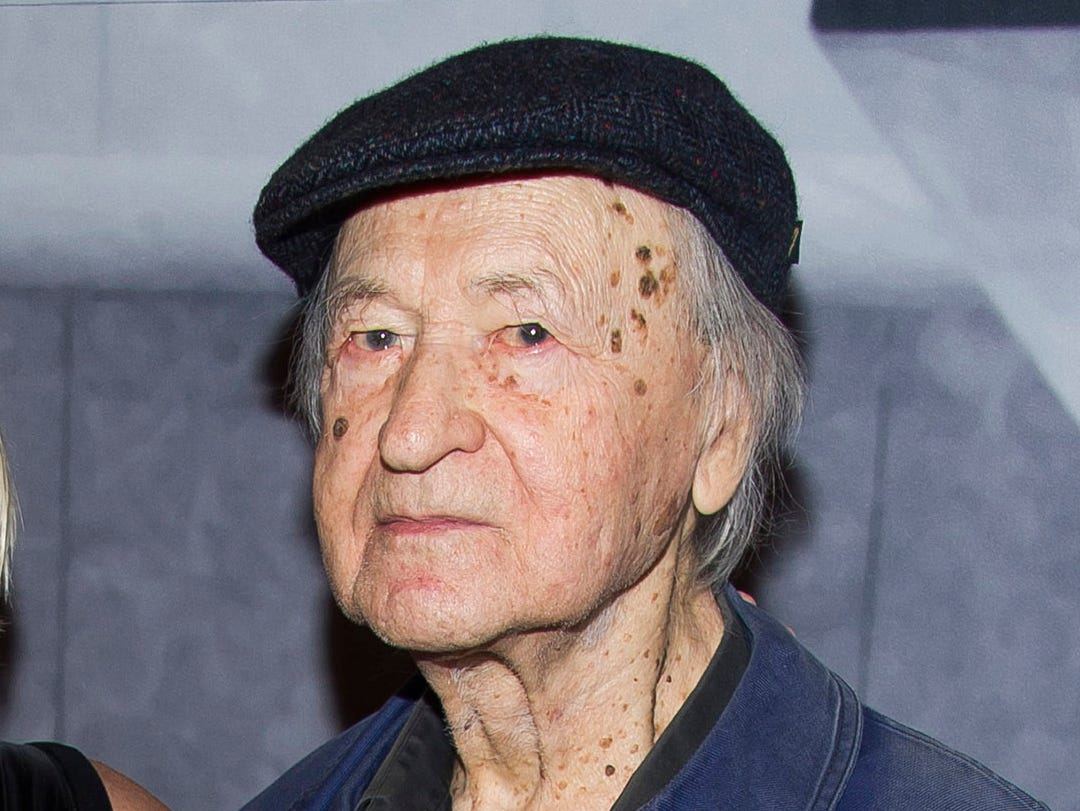 FILE - In this Nov. 19, 2014 file photo, Lithuanian-born director Jonas Mekas attend the Whitney Museum Gala in New York. Mekas, 96, who survived a Nazi labor camp and years as a refugee, died Wednesday, Jan. 23, 2019, at his home, according to the Anthology of Film Archives. He was artistic director of the New York center for film preservation, a leading avant-garde movie theater.  (Photo by Charles Sykes/Invision/AP, File) ORG XMIT: NYET302