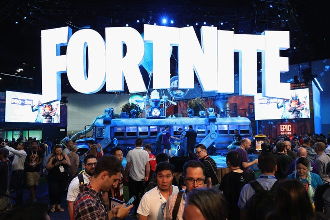 The 'Fortnite' exhibit at the Electronic Entertainment Expo E3 at the Los Angeles Convention Center on June 12, 2018.