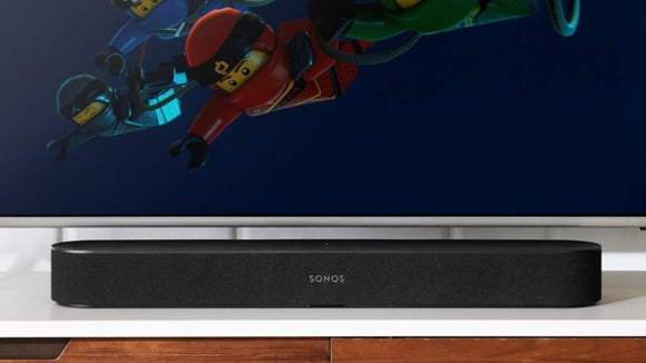 The Beam is slim enough to fit in front of any TV without blocking the view.