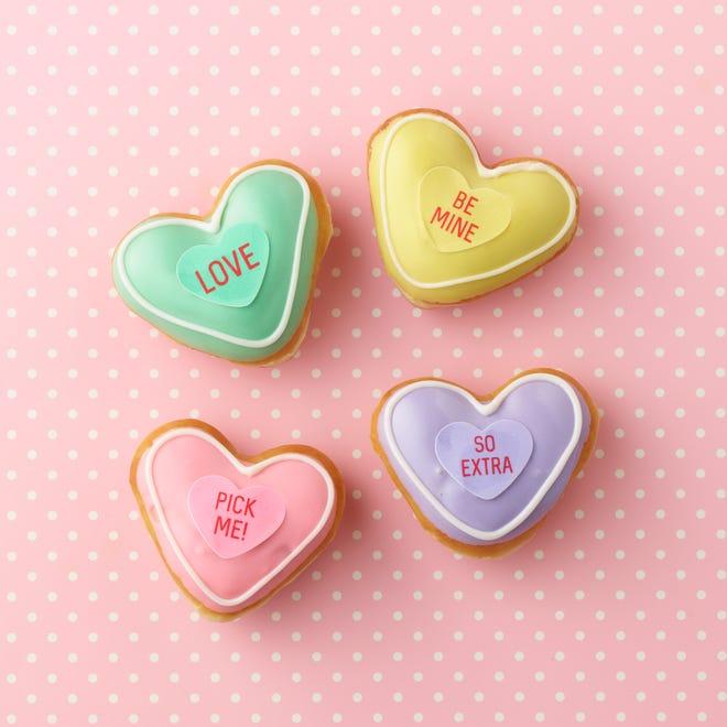 Krispy Kreme's Valentine Conversation Doughnuts will be available through Valentine's Day.