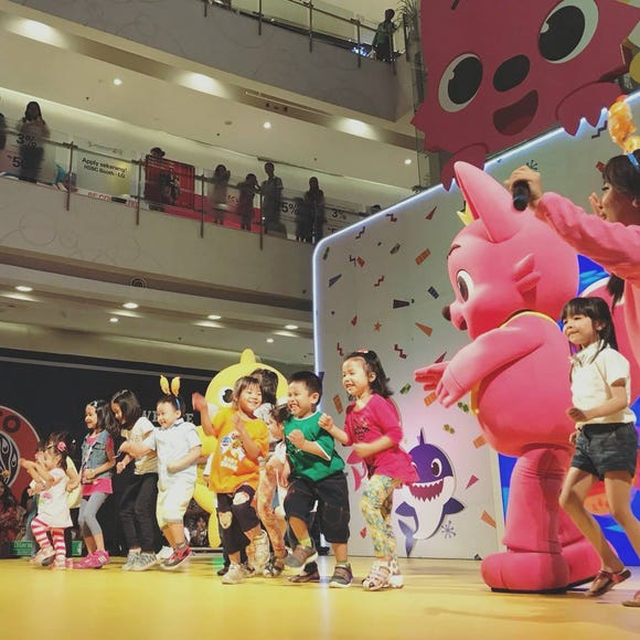 A Pinkfong show in Indonesia. The company is developing a musical to debut in North America this year, one of the company's founders, Seungkyu Lee, told Bloomberg.