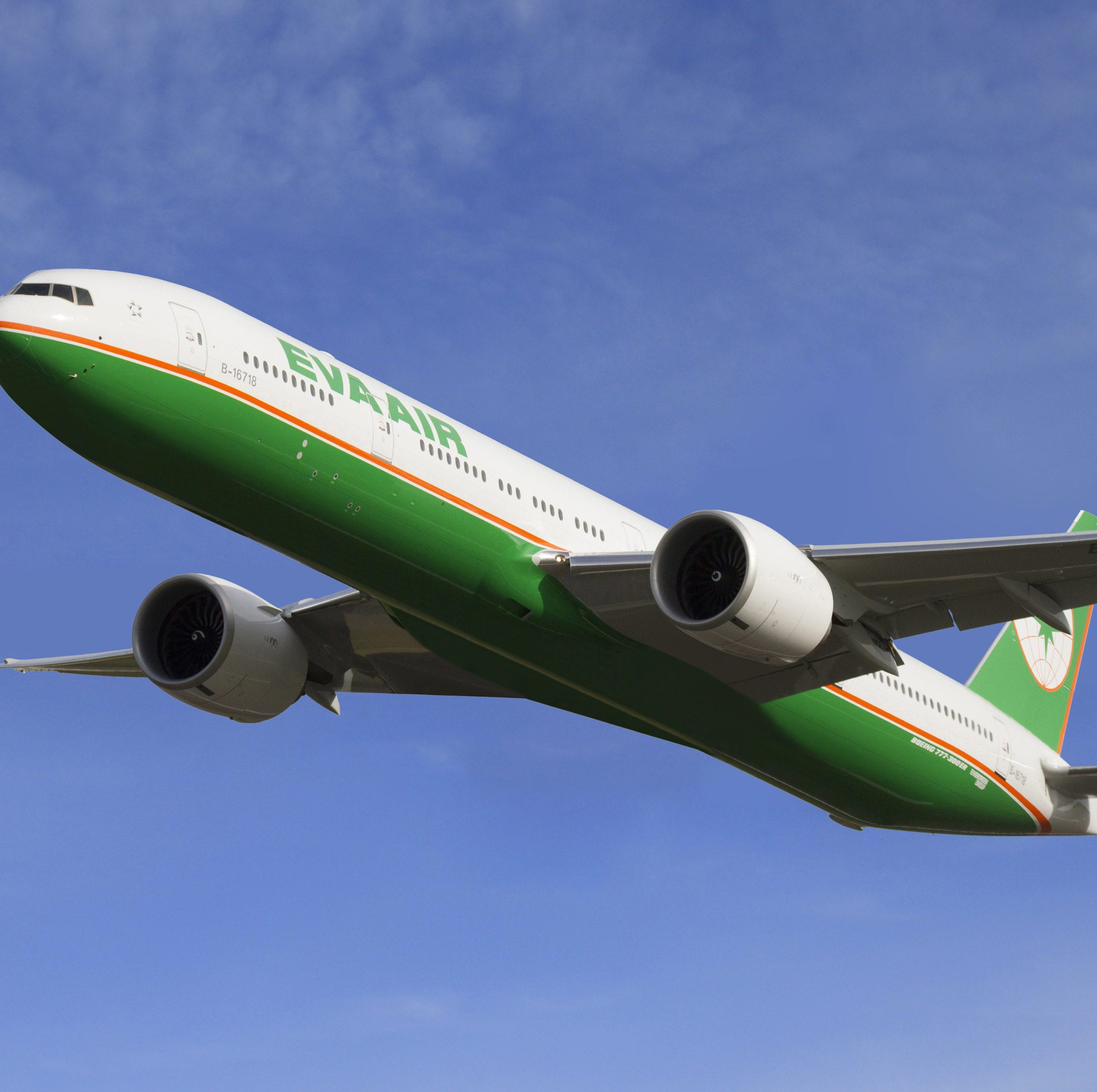 epa05032065 A handout photograph made available by EVA AIR dated 10 April  2014 shows an EVA Air Boeing 777-300ER passenger jet flying in the air. On 19 November 2015, EVA Air announced that it will sign a contract to order 26 Boeing jets - 24 B787 and two Boing  777-300/ER - on 24 November in Taipei, Taiwan. The deal is valuied at more than 8 billion US dollars at current list prices. EVA Air, with 64 aircrafts, is Taiwan's second-largest airline after the China Airlines (CAL). EVA Air wants to modernize its long-haul fleet to expand into new markets, particularly in Southeast Asia, Oceania and North America.  EPA/EVA AIR HANDOUT  HANDOUT EDITORIAL USE ONLY/NO SALES