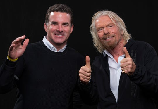 Sir Richard Branson and Under Armour CEO Kevin Plank idiscuss a partnership between the two companies in which Under Armour is basically going to provide the space suits (and offer tips on athletic training) to the wealthy people who will be able to fly into space via Branson's Virgin Galactic