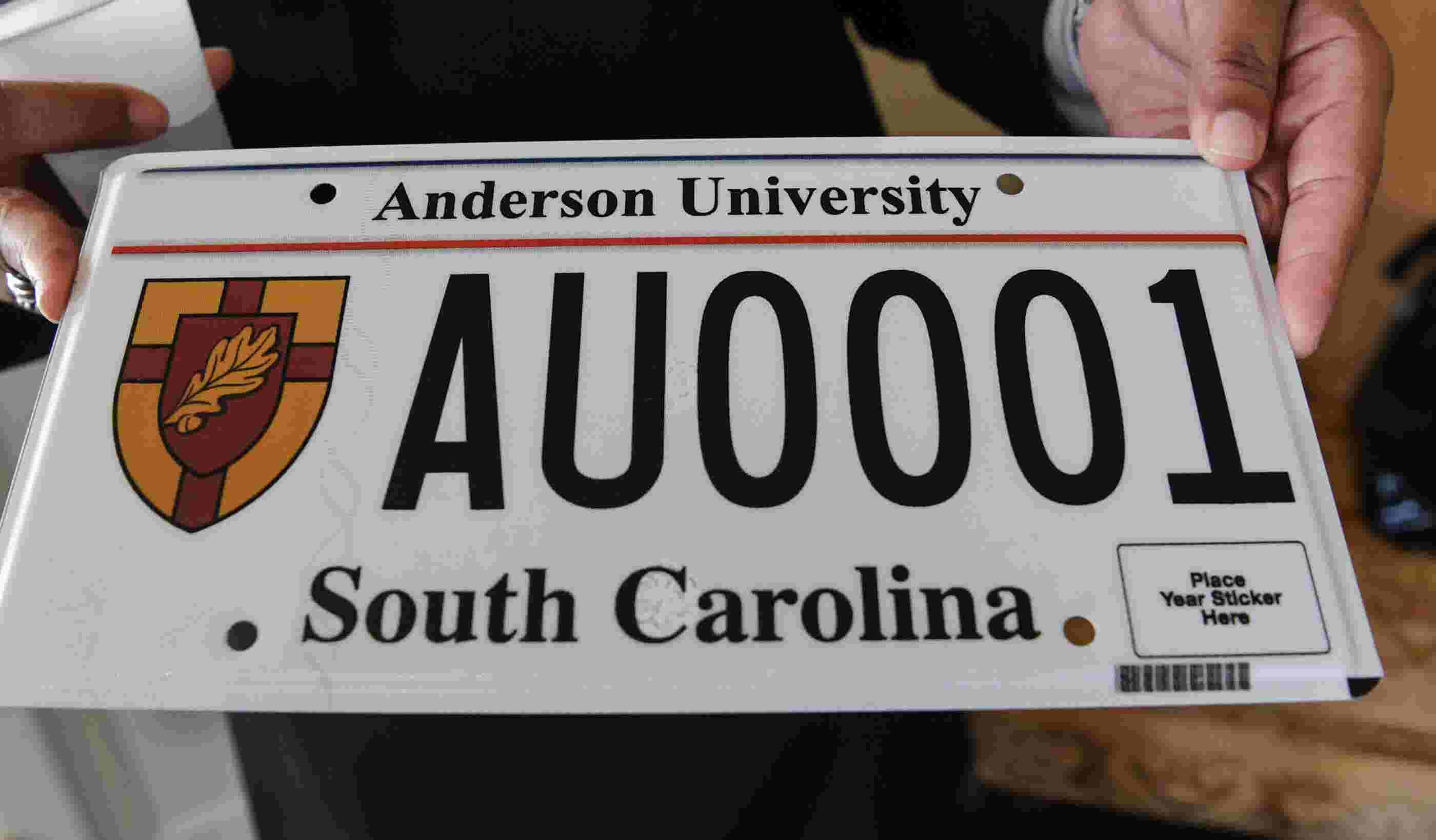 Dmv Anderson Announces Plates University Personalized