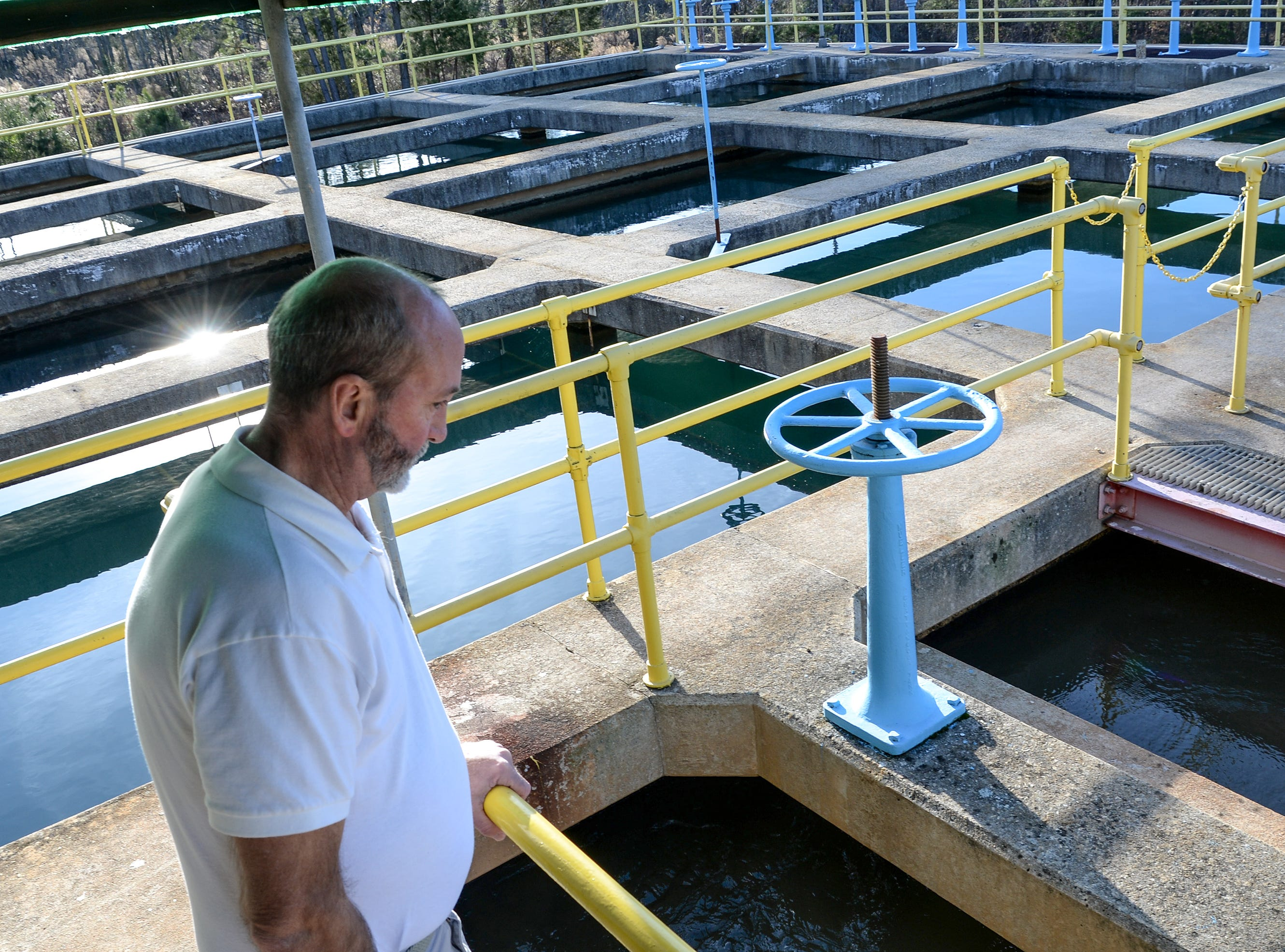 Mitch Ellenburg, general manager at the Belton Honea Path Water Authority in Honea Path looks over the different filtration steps at the plant on Friday.