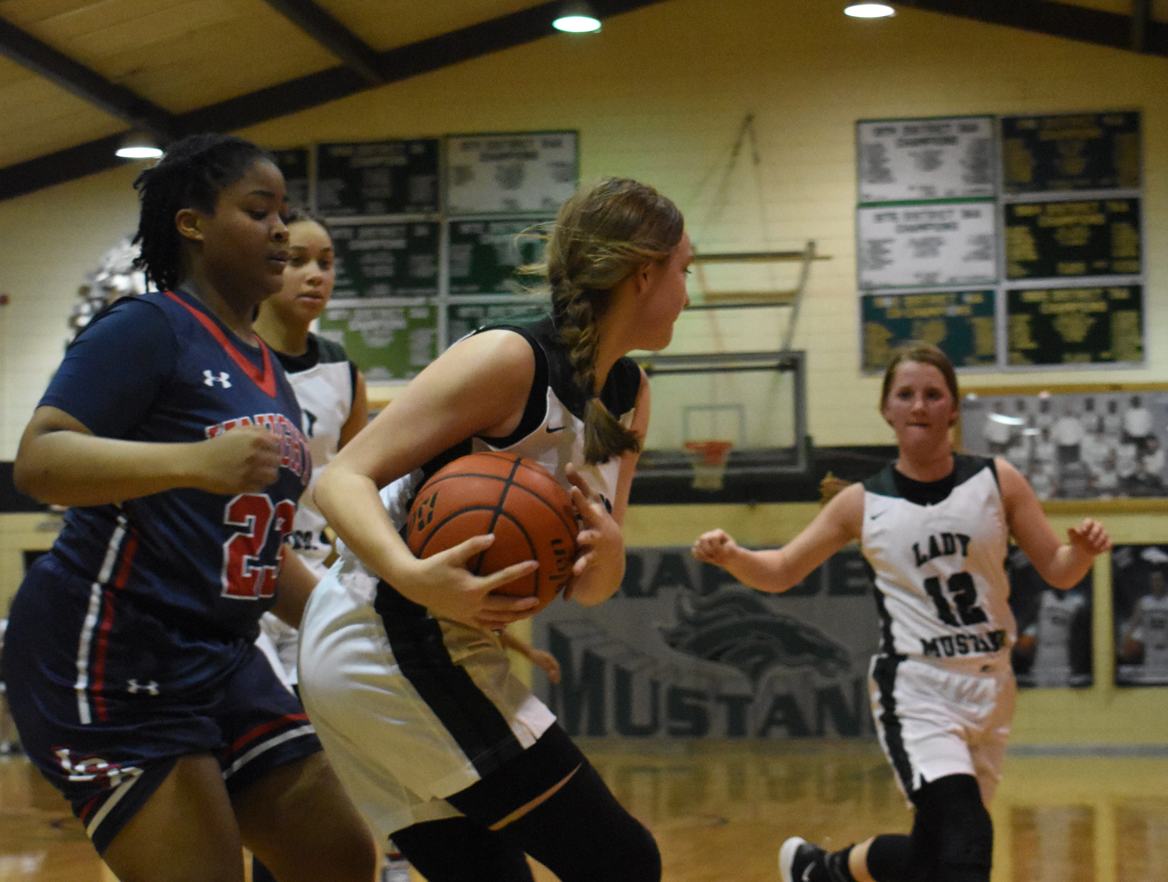 The Rapides High School Lady Mustangs defeated Lafayette Christian 65-56 Thursday, Jan. 24, 2019.