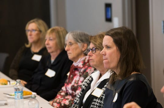 Guests listen as each of the non-profits talk about their group. Eight local non-profits were presented with Gannett Foundation grants which totaled $22,500 at a luncheon at the Asbury Park Press in Neptune, NJ., on January 25, 2019.