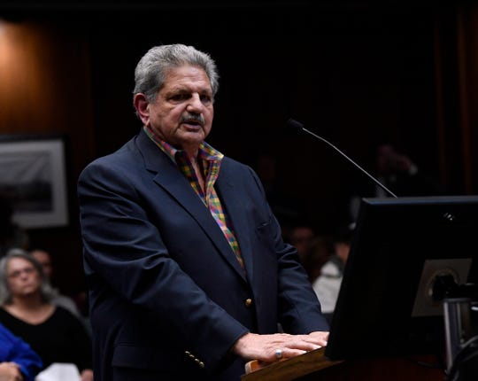 Former Abilene City Councilman Joe Spano during Thursday's meeting Jan. 24, 2019 asked the public for forgiveness and understanding in their anger over remarks made by current councilman Kyle McAlister on social media. AISD board members Samuel Garcia, Billy Enriquez, and other public figures have labeled McAlister's remarks as racist and want him to resign.