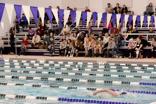 Buncombe County swimmers competed in the first meet at the new Buncombe County Schools Aquatic Center on Jan. 24, 2019.