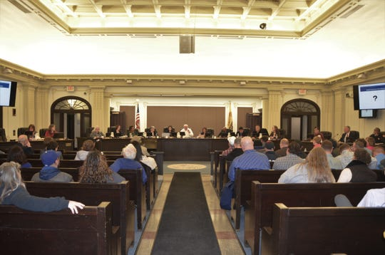 City Hall Chambers were packed on Thursday for the City Commission's budget workshop meeting.