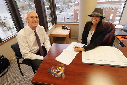 Victor Ulsh and Tiana Kleinhoffer at Bradley Scott, Inc., on Thursday, January 24, 2019.