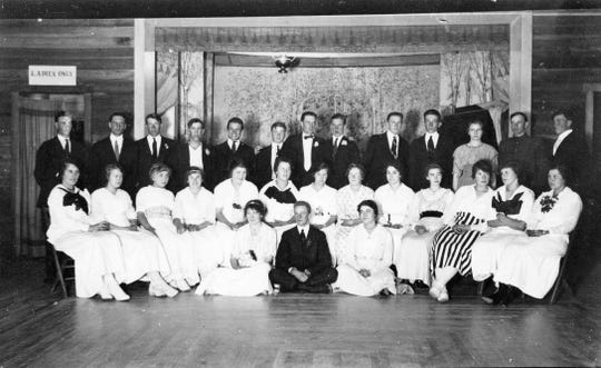 The 1915 Silverdale High School graduation ceremony was held in Emel's Silverdale Hall. Emel's Livery Stable & Hall was built in 1913 with three stories. The second story housed the Silverdale Community Hall, which hosted dances and movies. The building is still standing as the Old Town Pub, but its future is uncertain. To see more photos from the Kitsap County Historical Society Museum archives, visit facebook.com/kitsaphistory, kitsapmuseum.org, or stop by the museum at 280 Fourth St. in Bremerton. Call 360-479-6226 for information
