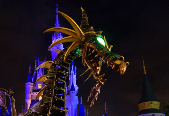 "In May 2018, ""Sleeping Beauty"" dragon float caught fire at Disney World. Maleficent returned Jan. 25, 2019, in full dragon form, complete with enhanced safety features to keep it in check."