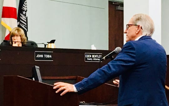 Bob White, chairman of the Republican Liberty Caucus of Florida, was one of the 10 speakers to address the Brevard County Commission in  support of a proposal to dissolve the Children's Services Council of Brevard.